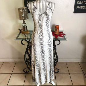 Snake print swing / tent Maxi Dress Medium